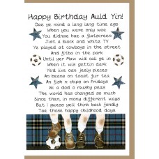Scottish Birthday Card Memories Male WWBI58