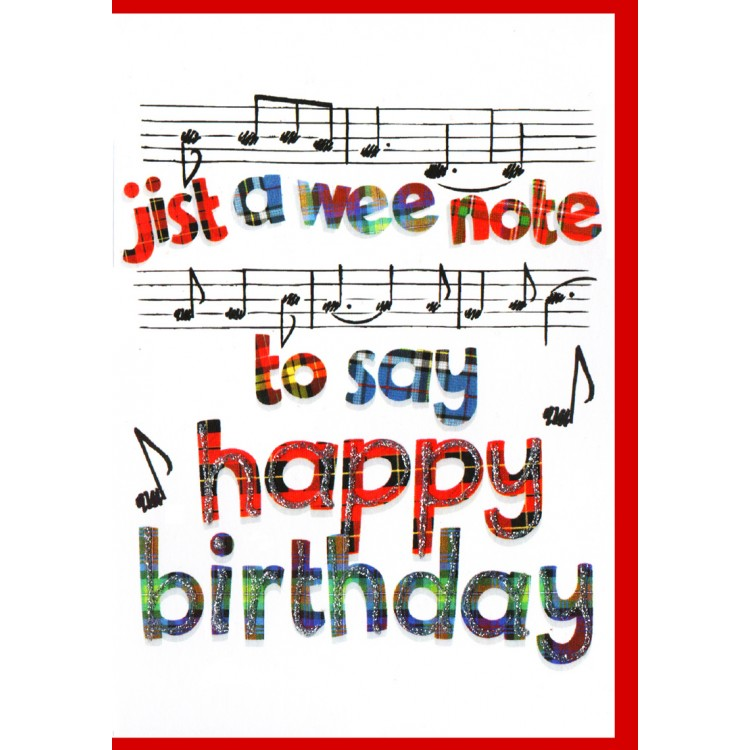Scottish Birthday Card Music WWBD60
