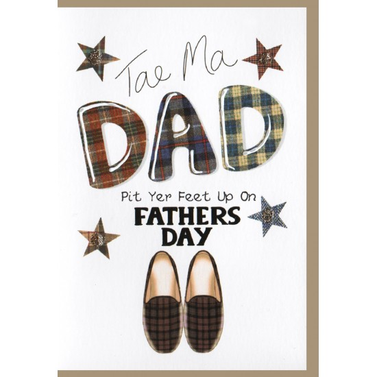 Fathers Day Card 'Pit Yer Feet Up' WWFD08