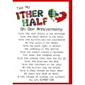 Scottish Wedding Anniversary Card Ither Half WWWE40