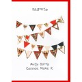 Wedding Card Hearts Bunting WWWE53