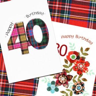 Embroidered originals scottish cards handmade cards scotland shop scottish birthday specific ages cards m4hsunfo