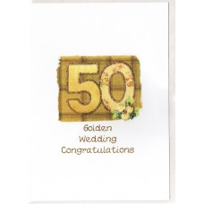 Golden Anniversary Number Card SW AN50