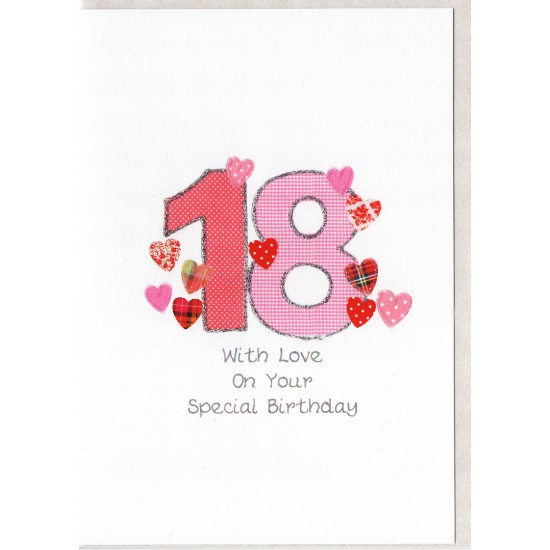 Special Birthday Number 18 Card SW PN18
