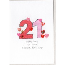 Special Birthday 21 Number Card SW PN21