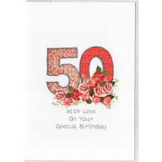 Special Birthday Number 50 Card SW PN50