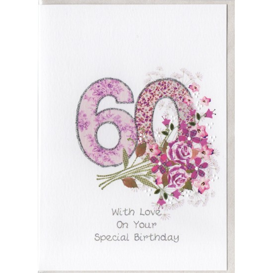 Special Birthday Number 60 Card SW PN60