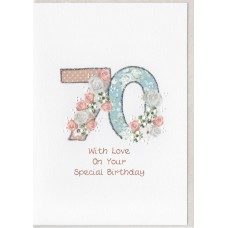Special Birthday Number 70 Card SW PN70
