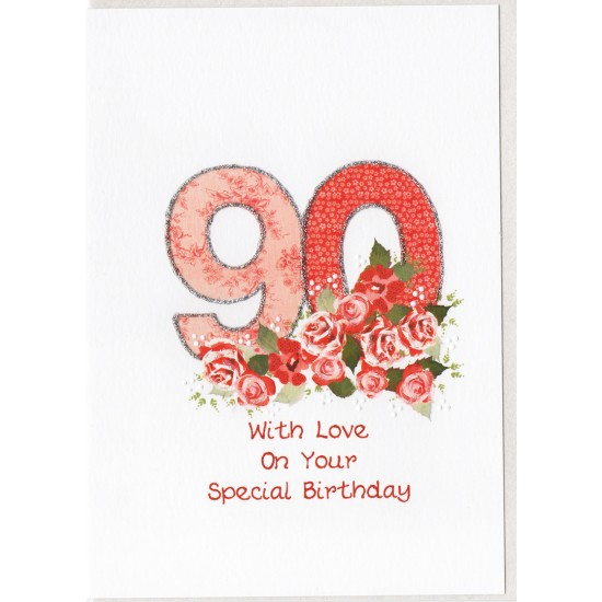 Special Birthday Number 90 Card SW PN90