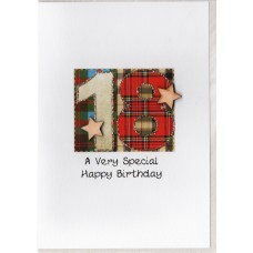 Special Birthday Tartan Number 18 Card SW TN18