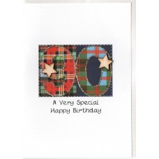 Special Birthday Tartan Number 90 Card SW TN90
