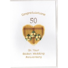 Gold Anniversary Tartan Heart Card SW WE30