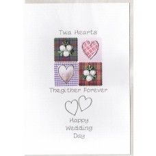 Wedding Twa Hearts Card SW WE35