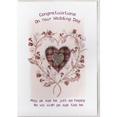 Wedding Thistle Heart Card SW WE43
