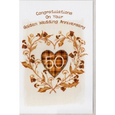 Gold Anniversary Thistle Heart Card SW WE47