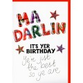 Tartan Words Card Darlin WWTW03