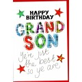 Tartan Words Card Grandson WWTW13