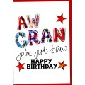 Tartan Words Card Gran WWTW16