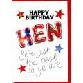 Tartan Words Card Hen WWTW28