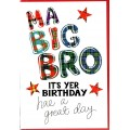 Tartan Words Card Big Bro WWTW29