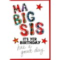 Tartan Words Card Big Sis WWTW30