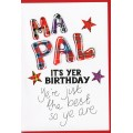 Tartan Words Card Ma Pal WWTW32