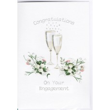 Engagement Card Champagne Glasses WWWE02