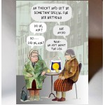 Birthday Auld Women Chatting Card