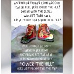 Birthday Ower the Hill Card