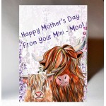 Mothers Day 'From Your Mini Moo' Card WWMD09