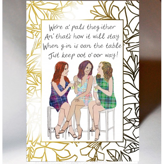 Special Friend Gin's Oan the Table Card WWSF08