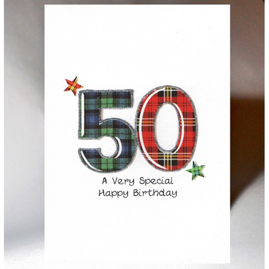 Special Wishes Tartan Number 50 Card SW TN50