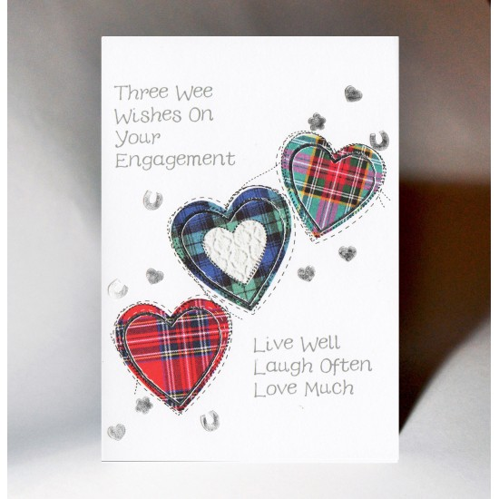 Engagement Three Wee Wishes Card WWWE94
