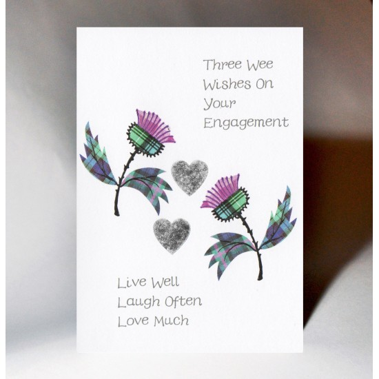 Engagement Thistle Card WWWE95