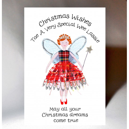 Christmas Fairy Special Wee Lassie Card WWXM119