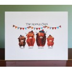 Coo Clan Personalised A4 Unmounted Print UP01