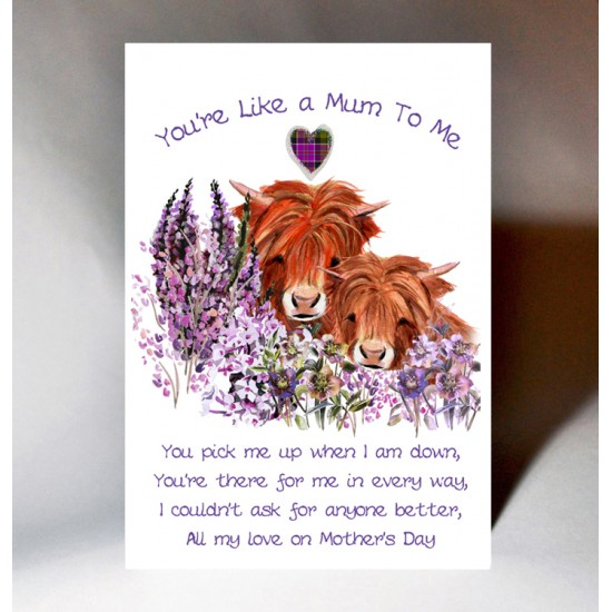 You're Like A Mum To Me Mother's Day Card WWMD13