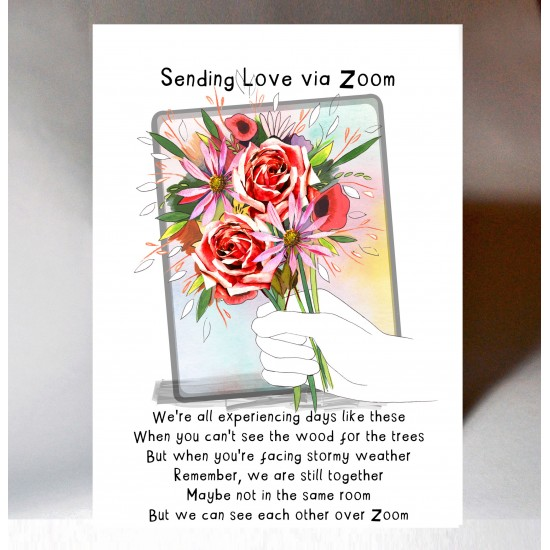 Sending Love via Zoom Card WWJB12