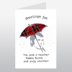 Scottish greeting cards now on sale embroidered originals scottish greetings card rabbie burns wwgr09 m4hsunfo