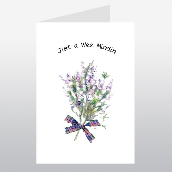 Scottish Greetings Card Heather Mindin WWGR03