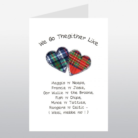 Scottish Lovey Dovey Go Thegither Card WWLD03