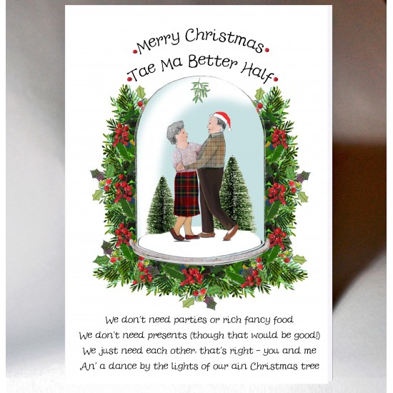 Merry Christmas Tae Ma Better Half Card WWXM123