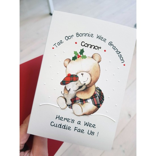 Christmas Ted Grandson Card  (can be modified) WWXM124