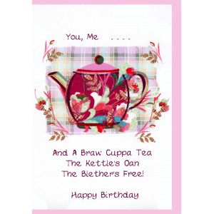 Scottish birthday card teapot wwbd71 scottish birthday cards scottish birthday card teapot wwbd71 m4hsunfo