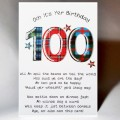 Scottish Birthday Card 100 with verse WWBP100
