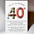 Scottish Birthday Card 40 with verse WWBP40