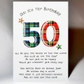 Scottish Birthday 50 with verse WWBP50