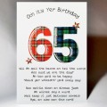 Scottish Birthday Card 65 with verse WWBP65