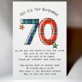 Scottish Birthday Card 70 with verse WWBP70