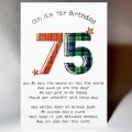 Scottish Birthday Card 75 with verse WWBP75